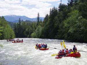 Rafting on the Stien River