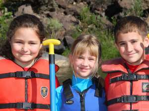 Kids love rafting in New Mexico