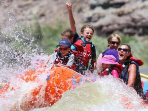 Splashy fun on the Colorado River, Moab Utah