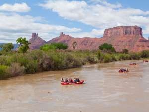 Colorado River rafting near Moab, Utah