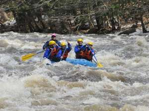 Rafting Millers River in Connecticut