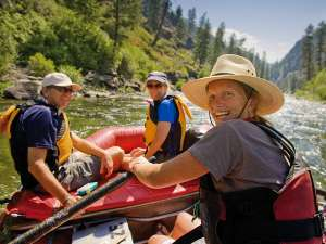 Row Middle Fork Salmon River Rafting Guide Smile Copy